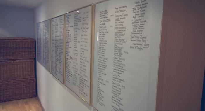 Hall of Fame Unterschriftentafeln